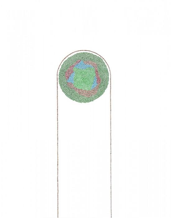 Arc 1 Acrylic on vellum. 14 x 11 in.